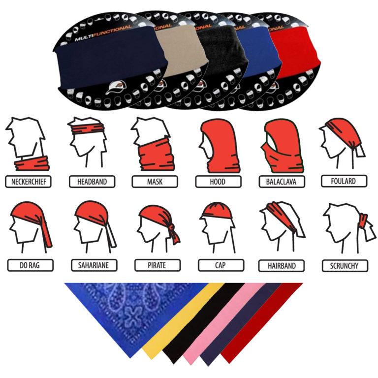 Idea-Shack Branded Clothing Headwear Bandanas